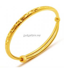 YOUNIQ Premium Slim Classical 24K Gold Plated Bangle