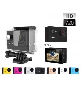 Ewing 2 Inch A7 720P HD Sport DV Camera Diving 30M Waterproof Action Camera
