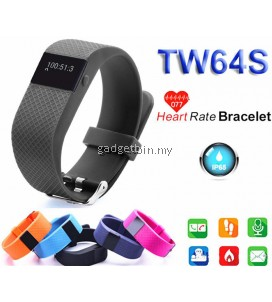 TW64S Heart Rate Bluetooth Smart Watch For Android IOS (Black)