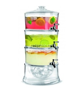 3 Tier Stackable Beverage Dispenser with Ice Chamber Base