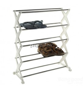 5 tier Foldable Shoe Rack Shoes Storage