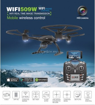 JXD 509W Pioneer UFO Wifi FPV 2.4Ghz 4CH RC Quadcopter Drone with 0.3MP HD Camera