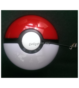 New Pokemon Go Pokeball 10000mAh Battery Powerbank With LED Light