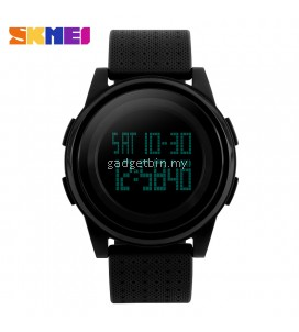 SKMEI 1206 Thin Fashion Simple Dial LED Digital Watch