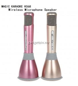 Magic Karaoke K068 Wireless Portable Bluetooth Microphone Speaker KaraoKe Recorded