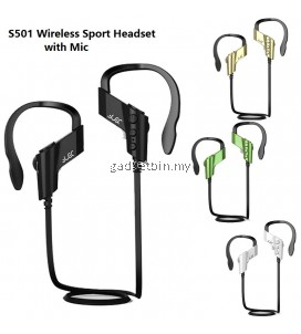 S501 Wireless Bluetooth Ear-hook Sport Running Stereo Headset With Mic for For IPhone Andriod