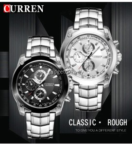 Curren 8025 Men's Business Casual Stainless Steel Watch