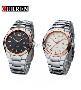 Curren 8103 Men's Business Casual Date Display Stainless Steel Watch
