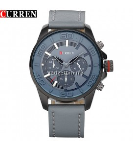 Curren 8187 Men's Military Fashion Leather Strap Watch
