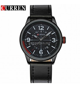 Curren 8215 Men's Military Fashion Date Display Leather Watch