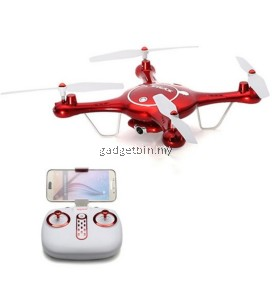 SYMA X5UW FPV 720P WiFi HD CAMERA 2.4G 4CH 6 Axis RC Quadcopter Drone (Red)