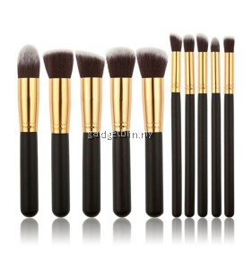 10 Pcs High Quality Professional Cosmetic Makeup Foundation Brush Eyeshadow Eye Natural Makeup Face Brush Set
