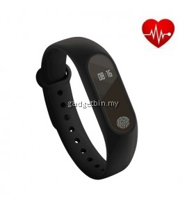 M2 Heart Rate Monitor OLED Touch Screen Activity Tracker Bluetooth Smartband (Black)