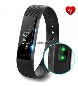 """ID115 Heart Rate Monitor 0.86"""" OLED Screen Activity Fitness Tracker Bluetooth Smartband"""