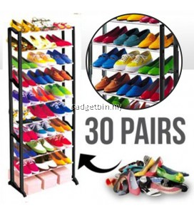 10 Tier Amazing Stainless steel Shoe Rack