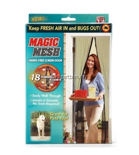 1 Set Magic Mesh Screen Door Magnetic Anti Mosquito Bug Doors Curtain net