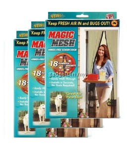 3 Set Magic Mesh Screen Door Magnetic Anti Mosquito Bug Doors Curtain Net
