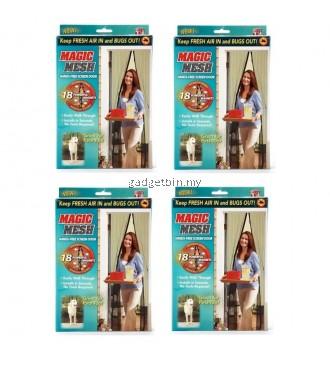 4 Set Magic Mesh Screen Door Magnetic Anti Mosquito Bug Doors Curtain Net