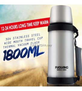 Fuguang 1.8L Thermal Vacuum Sports Travel Outdoor Camping Thermos Flask Stainless Steel Bottle with Water Cup