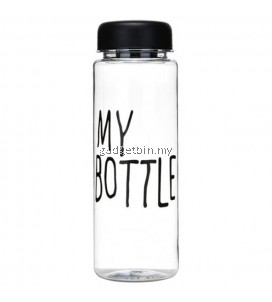 Korean Trendy Fashion Clear Transparent MY BOTTLE Water Bottle (500ml)