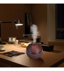 Ultrasonic Mini Desk Home Air Humidifier Air Purifier Aroma Diffuser (Dark Wood)