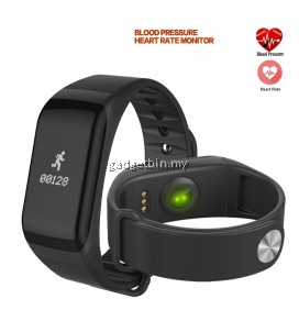 F1 Blood Pressure Heart Rate Monitor Curve Screen Display Bluetooth Fitness Smartband For Android IOS