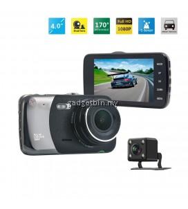 "T652 4"" Screen 1080P Night Vision Dual Camera Video Recorder Car Camera"