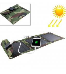EWING Portable Foldable Outdoor 3 Solar Panel Charger Cover Solar Powerbank