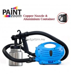Paint Zoom Plus Electric Paint Spray Gun Upgraded Copper Nozzle With Aluminium Container