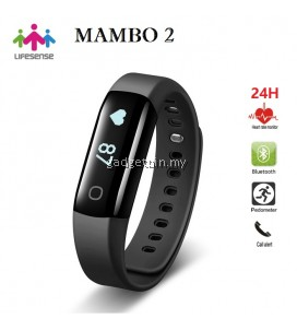 Lifesense Mambo2 24Hours Heart Rate Monitor Waterproof Fitness Bluetooth Smart Band