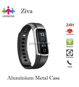 Lifesense Ziva 24Hours Heart Rate Monitoring Waterproof Aluminium Metal Case Smart Band