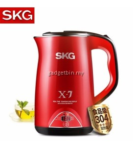 SKG 8041 Stainless Steel 304 Anti Scald Electric Kettle 1.7L With Temperature Display