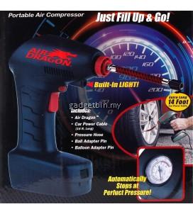 Air Dragon Handheld Portable Air Compressor Auto Tire Inflator Balls Mattress Toys Pump Emergency Tool
