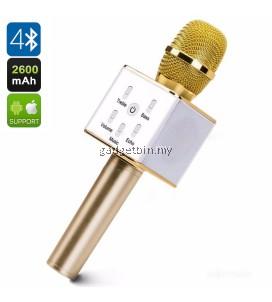 Q7 Wireless Bluetooth Karaoke Microphone & HiFi Speaker (Gold)