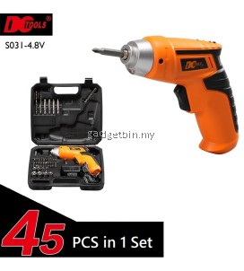 45 Pcs in 1 DCTOOLS S031 Rechargeable Cordless Electric Screwdriver Drill Tools Set