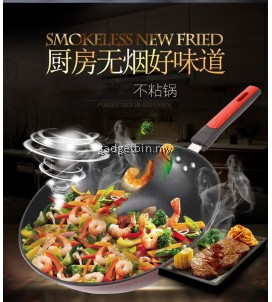 DIXI 32cm Classic Nonstick Wok Frying Pan with Glass Lid Induction Cookware Set