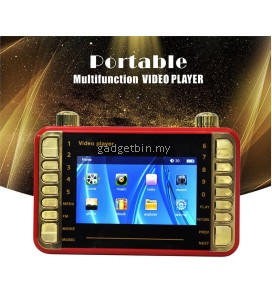 MP4 MP3 Portable Rechargeable Video Player Support Radio TF Card