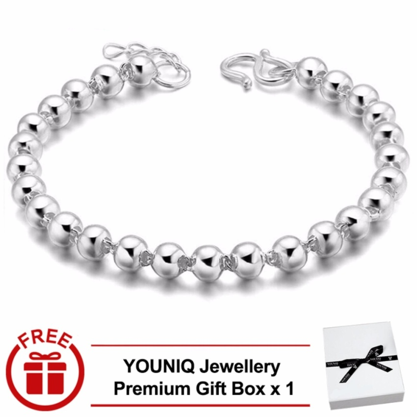 YOUNIQ Lucky Roller 999S Silver Plated Bangle