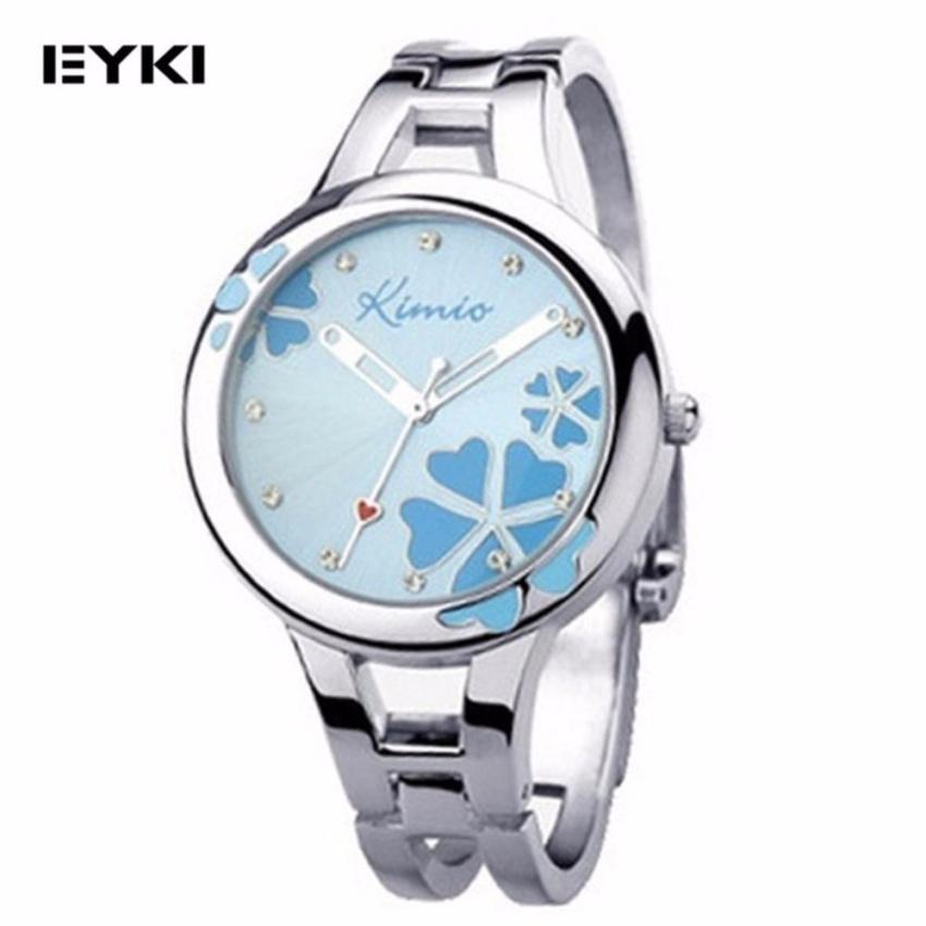 [ BUY 1 FREE 1 ] Eyki K425L Kimio Lucky Grass Ladies' Watch Blue