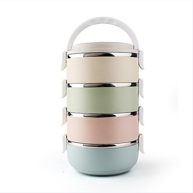 Multicolor 3 Layer Stainless Steel Lunch Box