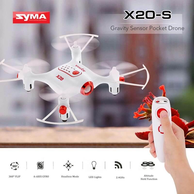 Syma X20S Single Hand Control RC Drone Mini Pocket Quadcopter Set High