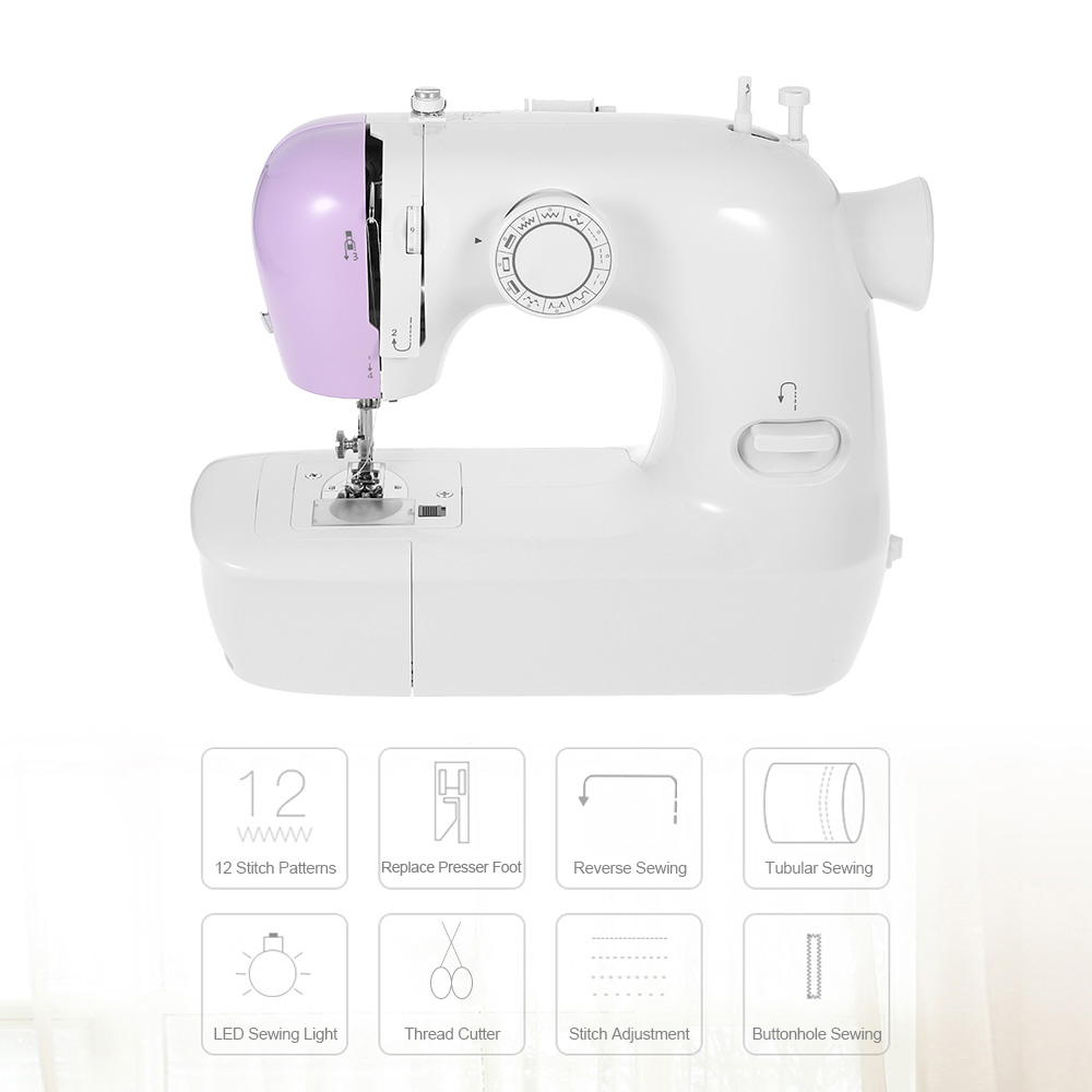 JG1803 Professional 12 Sewing Options Sewing Machine With Built-in Light