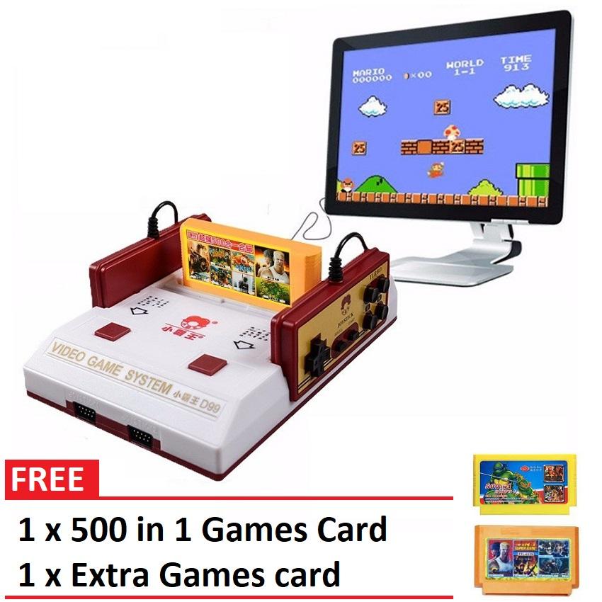 D99 Classic Retro TV Game Console NES 8Bit Classic Game 2 Controller Handles Joystick FREE 500 Games