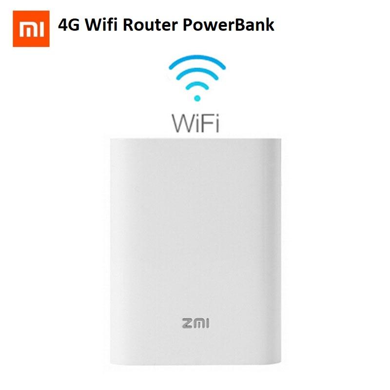 Xiaomi ZMI MF855 3G 4G LTE Mifi Wireless Hotspot WiFi Router 7800mAH Power Bank Powerbank