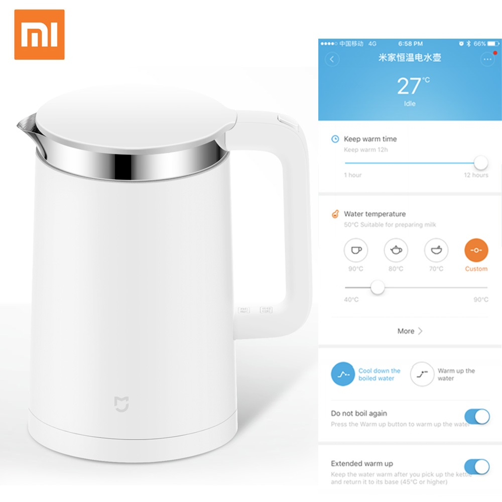 Xiaomi Mi Smart Electric 304 Stainless Steel Kettle 1.5L with Constant Temperature Control By Mi Home App