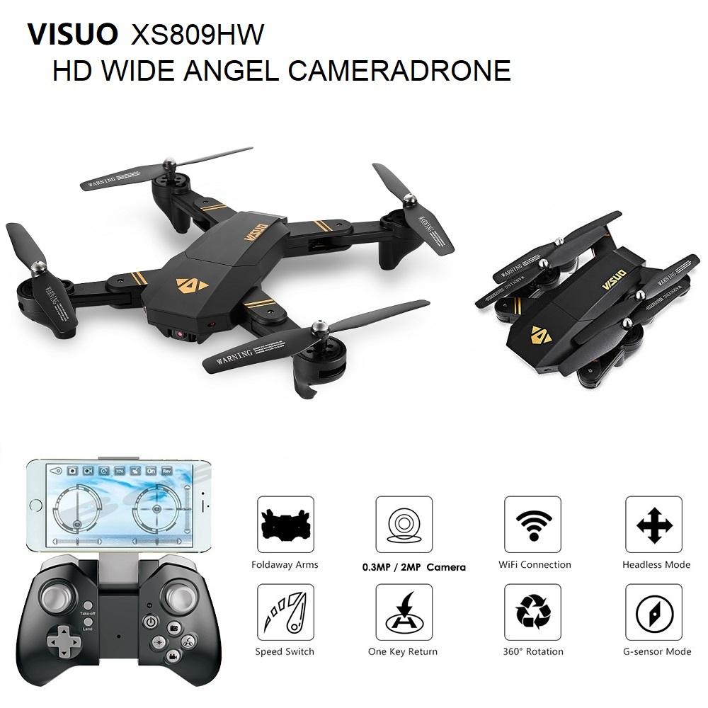 VISUO XS809HW Wifi FPV HD 2MP Wide Angle Camera Drone Quadcopter