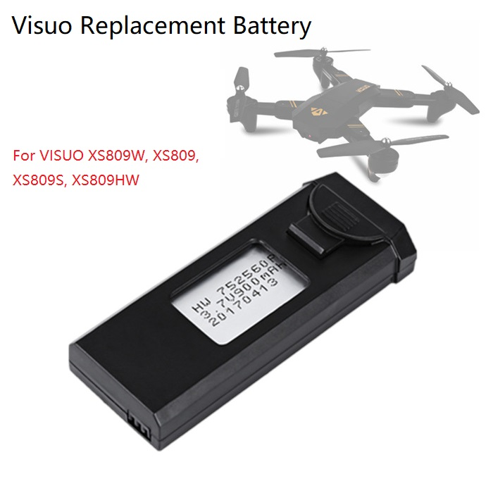 VISUO 3.7v 900mah Lipo Battery For XS809W XS809HW XS809 XS809HC XS809S Quadcopter Drone