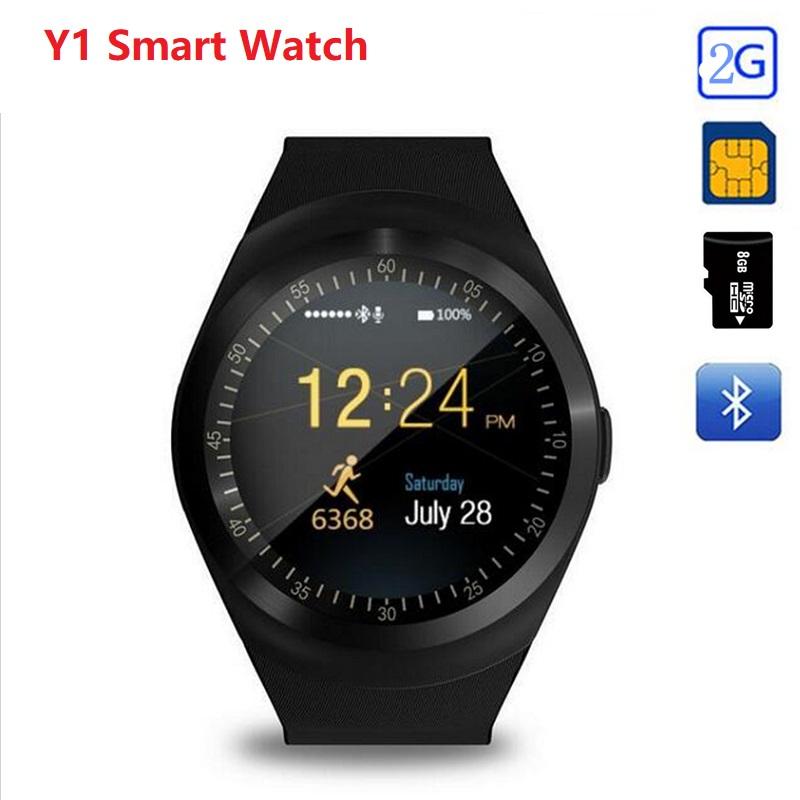 Y1 Acitivity Tracker Camera Bluetooth Smart Watch Support Nano SIM Card TF Card