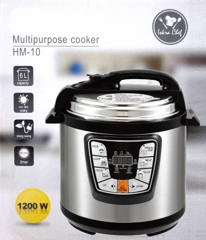 HM10 6L 1200W Electric Pressure Cooker 6 Programmed Timer Rice Cooker