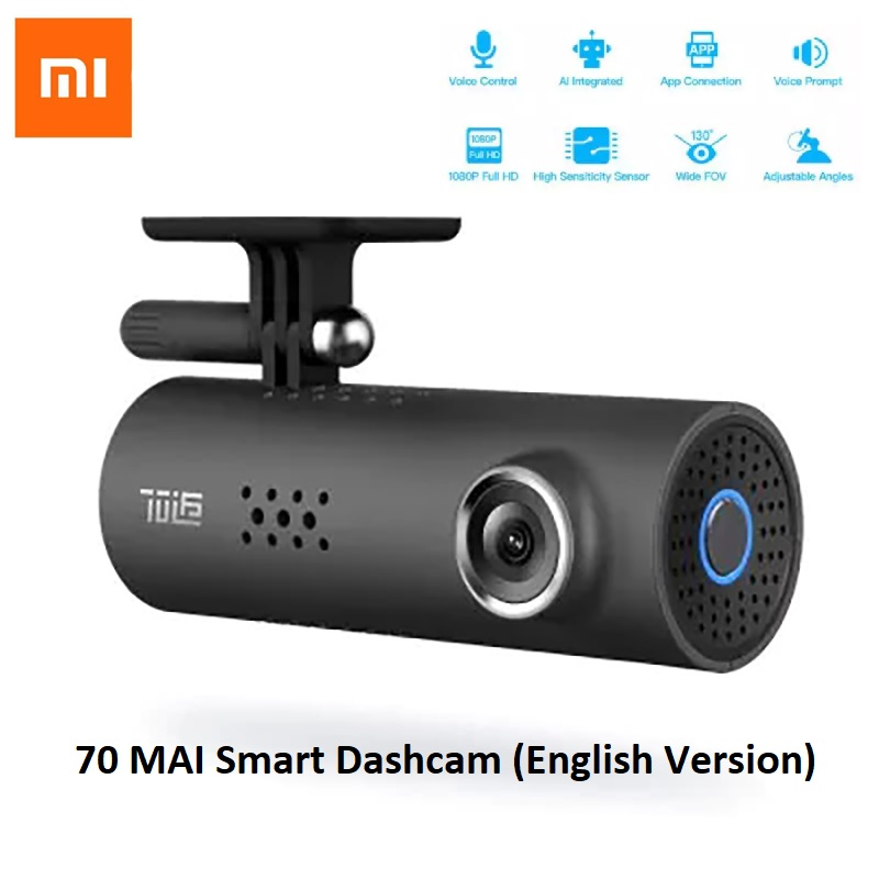 Xiaomi 70 Minutes 70Mai HD 1080P 130 Degree Wide DVR Smart WiFi Car Camera - English Version